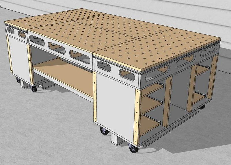table d 39 assemblage porte systainer diy termin shop. Black Bedroom Furniture Sets. Home Design Ideas