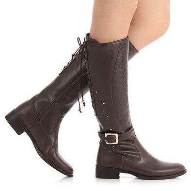 53420b06e Bota Montaria Feminina Bruna Rocha - Cafe | shoe boots: ankle | Shoe ...
