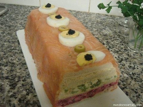Pastel de salmon ahumado sin cocion