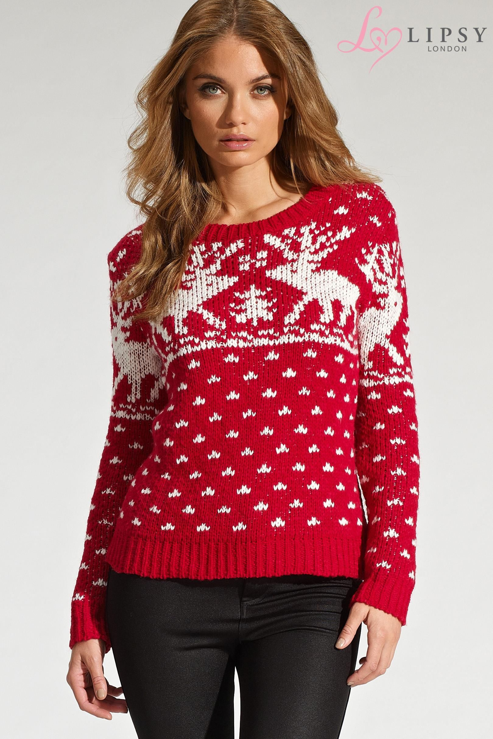 Buy Lipsy Reindeer Snow Jumper from the Next UK online
