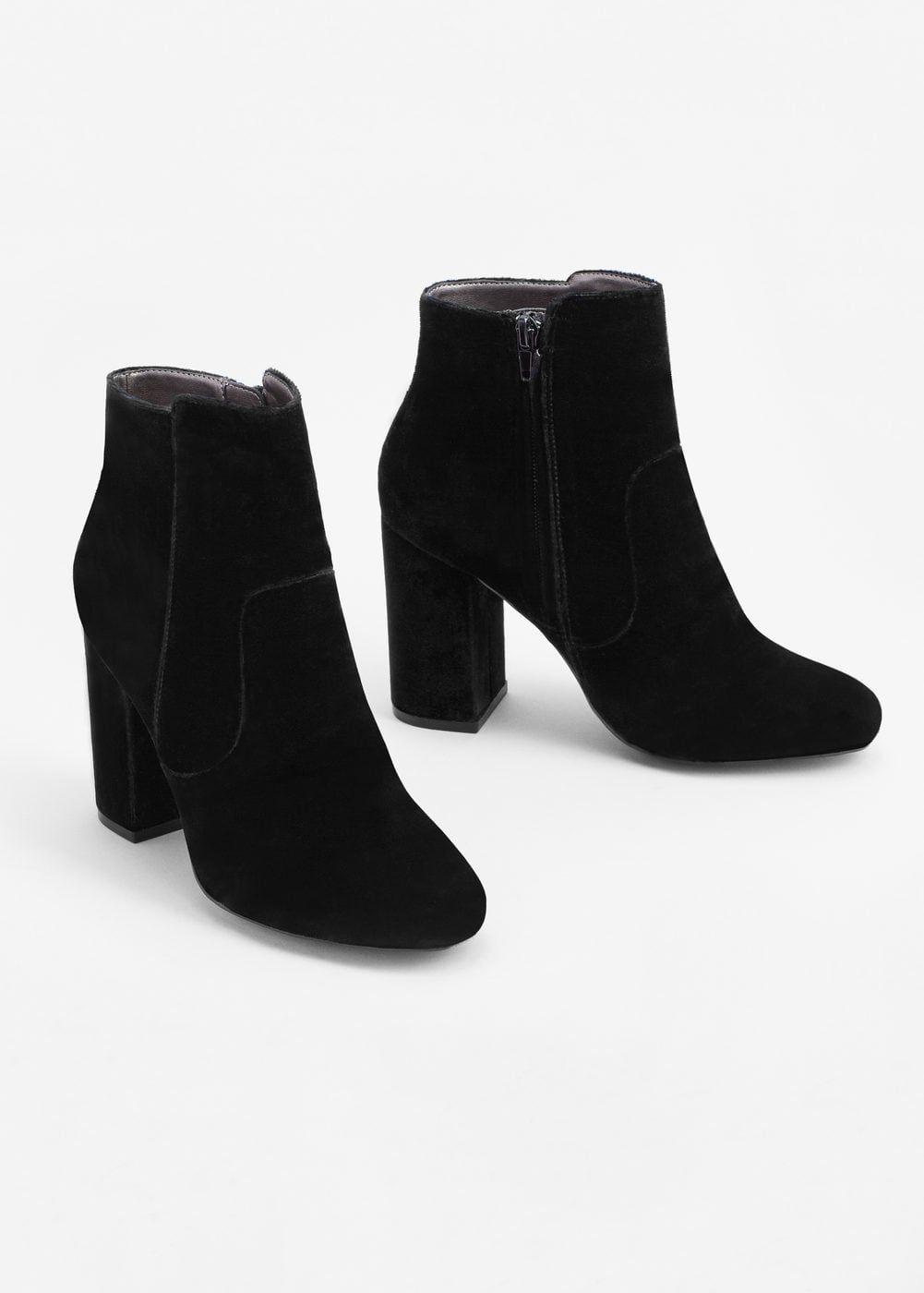 Bottines velours à talons - Femme   REPERAGES SOLDES   Chaussure ... 274b3a78fa3c