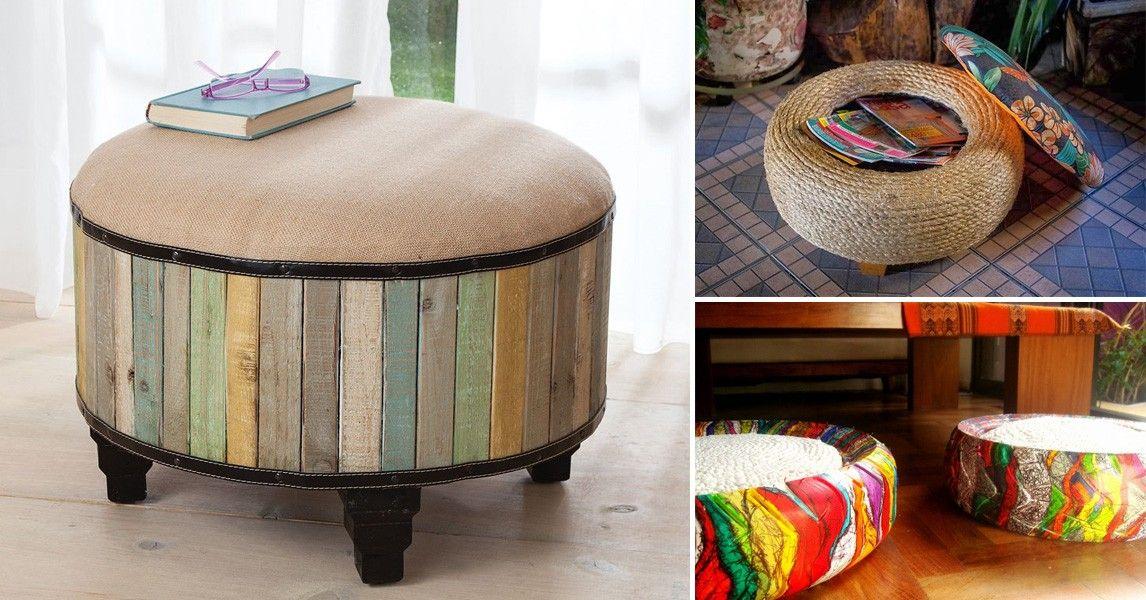 Ideas para transformar un neum tico en un asiento original for Mesas con neumaticos