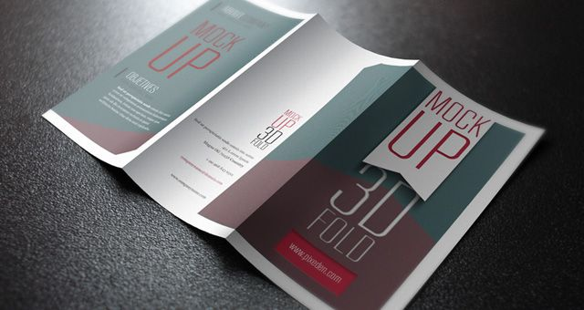 PSD Blank MockUps And Action Files Mockup Template And - Psd tri fold brochure template