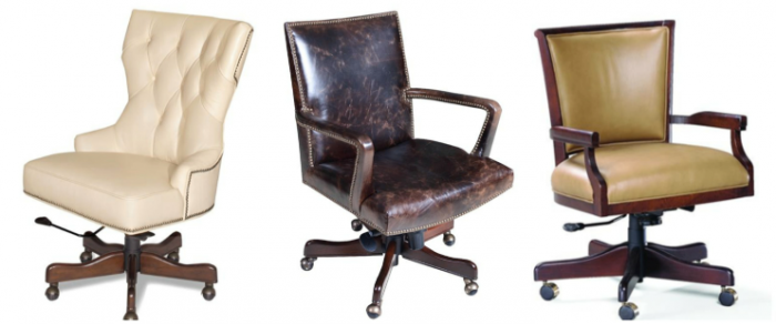 Swivel Office Chairs From Sam Moore And Hooker Furniture.