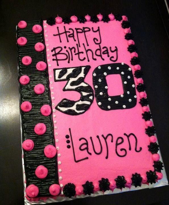 Birthday cake ideas for 30th birthday sheet cakes for 30th birthday cake decoration ideas