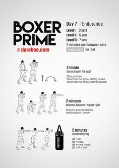 boxer prime 30day fitness program  home boxing workout