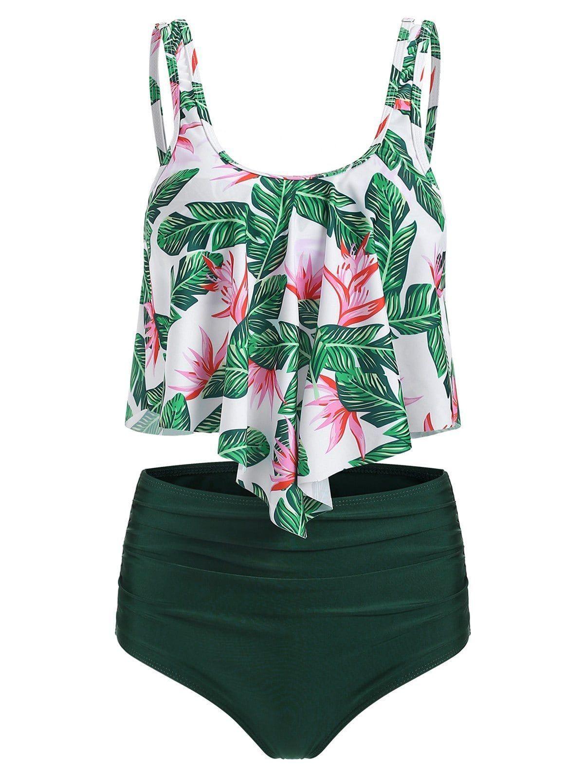 Tankini Swimsuits for Women Cute Printed Overlay Tankini Set Tankini Swimsuits f… – Popular – Swimsuit