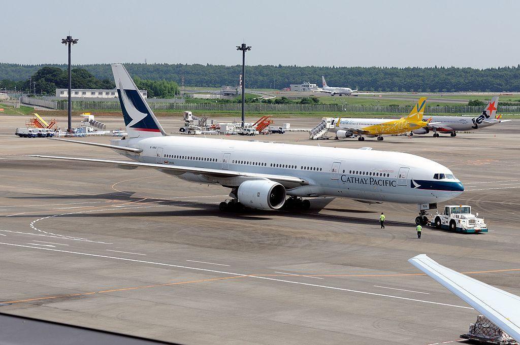 Cathay Pacific Boeing 777 200 B HNA at Narita