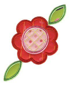 Free Embroidery Design: Simple Spring Applique - I Sew Free