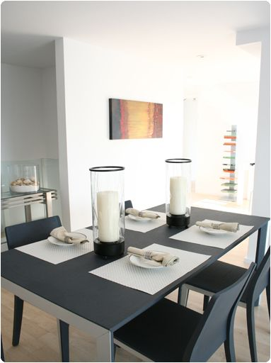 Dining Room Description Charcoal Gray Wood Table Coordinating Chairs With Steel