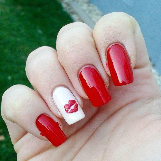 Valentine\'s day Crazy Hot Kiss Funny Nail Art Design | valentine\'s ...
