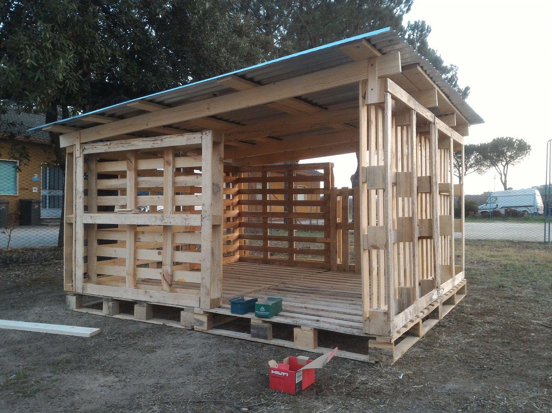 Realizzazione di un pollaio con una capienza di polli costruito
