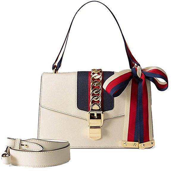 White Gucci Sylvie Dupe - Replica Handbags  c2993b8f15158