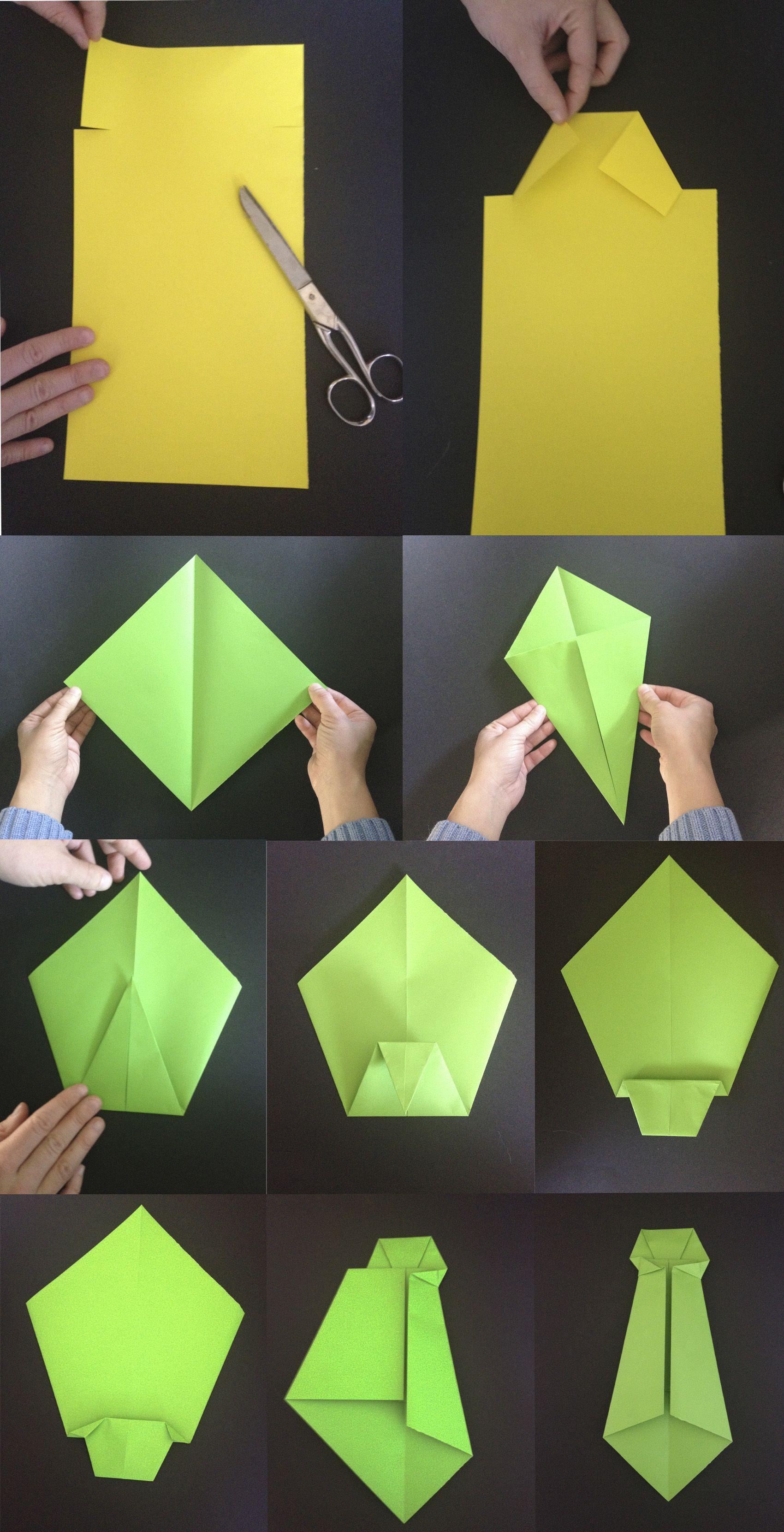 Tutorial camisa de origami para el día del padre