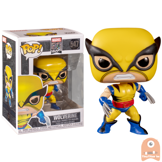 Funko Pop Wolverine Marvel 80th #547 Brand New Marvel