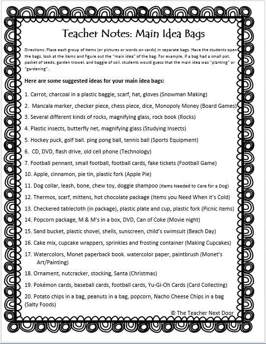 Our favorite 5th grade reading worksheets – Main Idea Worksheet 4th Grade
