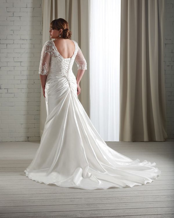 wedding dress, Plus Size Wedding Dresses This is a beautiful back ...
