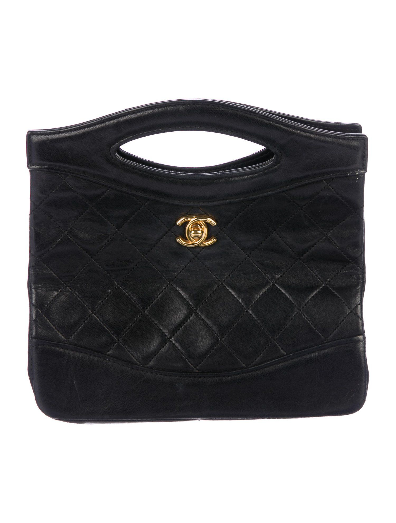 535a00b760ff Chanel Vintage Lambskin Handle Bag - Handbags - CHA303188