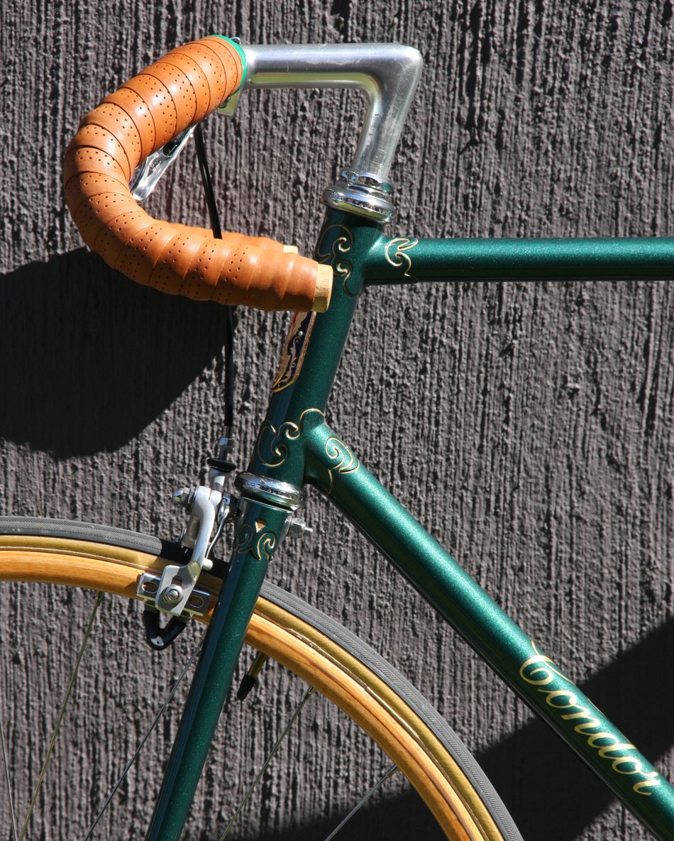 Condor Metallic Green Fixed Wheel Road Bike Bill Hurlow