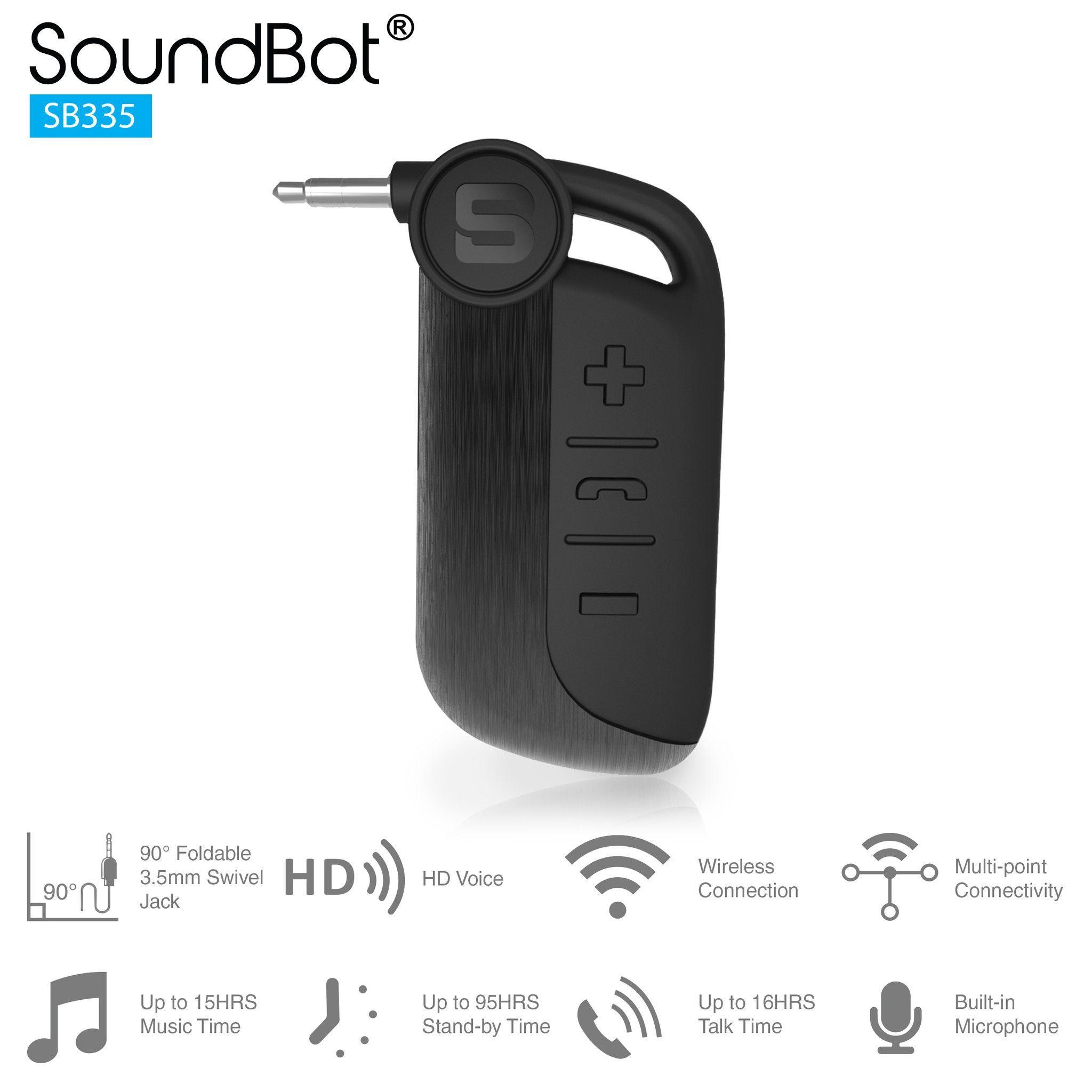 SB335 Universal Wireless Bluetooth Stereo Receiver Audio Adapter ...