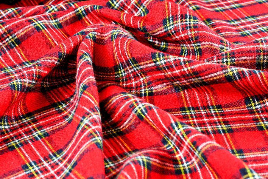 Cotton Tartan Check Fabric - 1 meter length