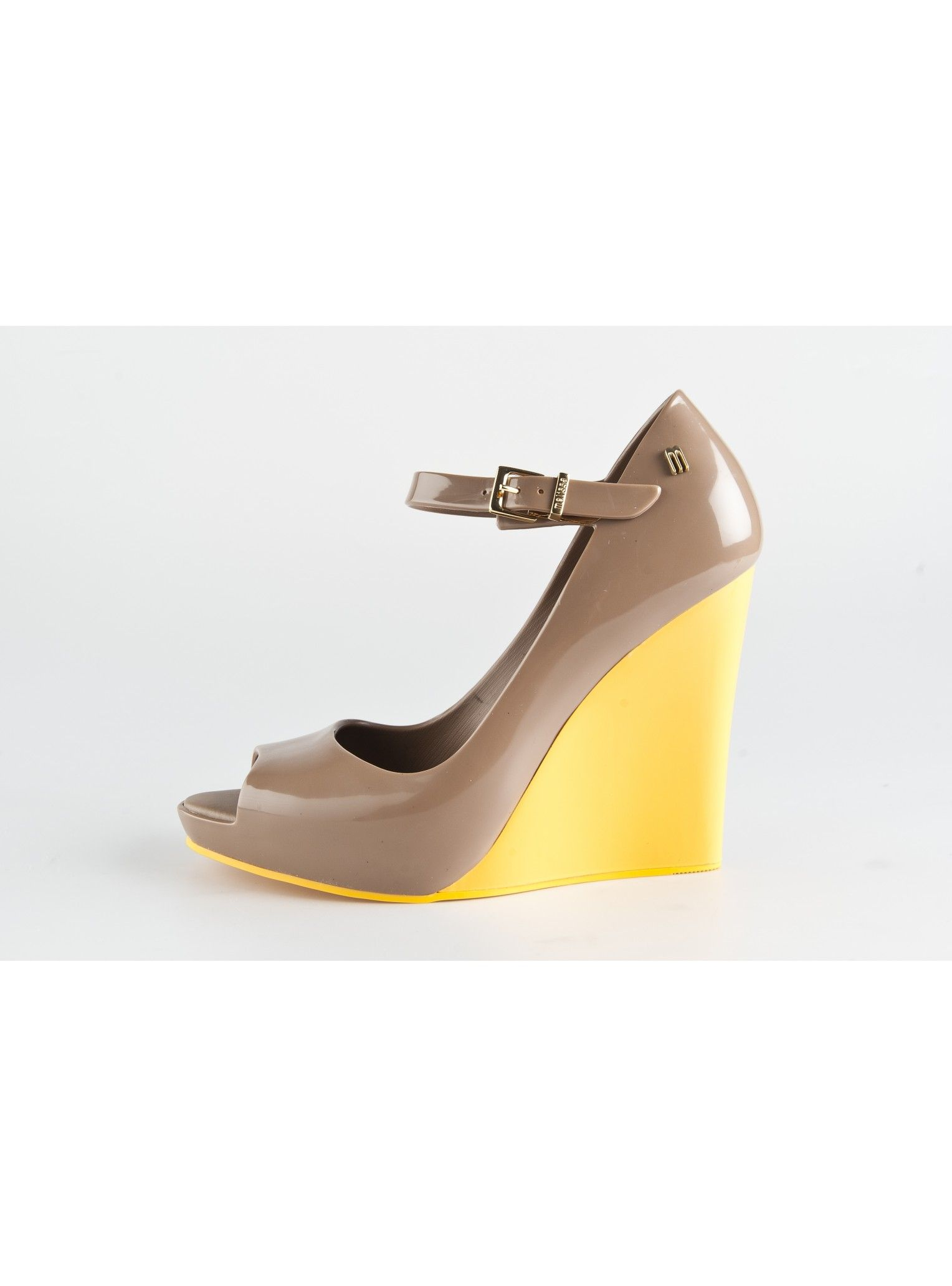 cbab33871 Melissa Prism Wedge in Toffee Contrast   Collaborations with Vivienne  Westwood, Jason Wu, Pedro Lourenco, Campana   Buy Melissa Plastic Shoes,  Sandals, ...