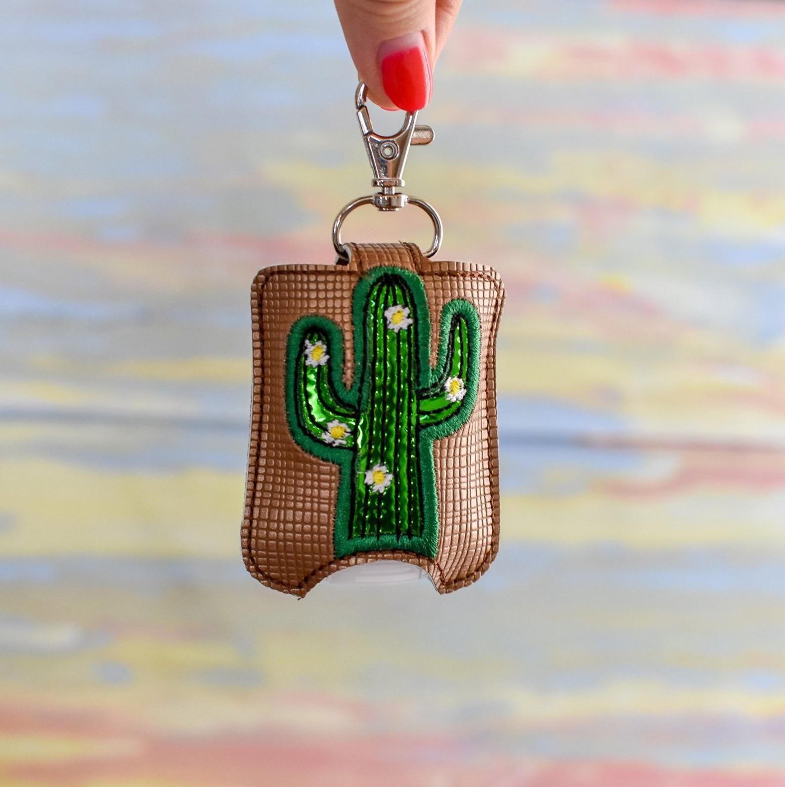 Cactus Sanitizer Holder Etsy Hand Sanitizer Holder Cute