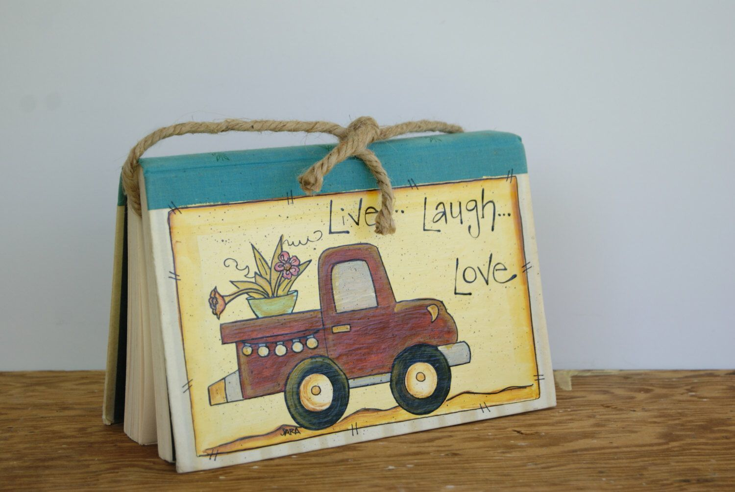 Pickup truck decoration, Hand painted truck decor, Country home ...