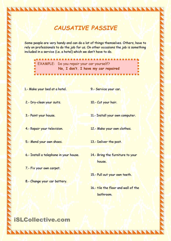 Causative Passive Passive English Phrases Writing Skills