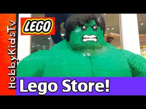 HobbyKidsTV presents Downtown Disney Lego Store. See the Lego Store ...