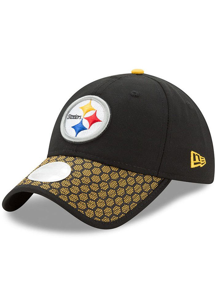 7b59bc080b72 New Era Pittsburgh Steelers Black 2017 Official Sideline Womens Adjustable  Hat - 5903840