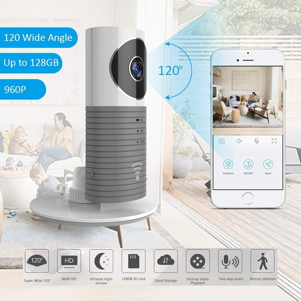 Amazon Cloud Cam Hd 960p Indoor Wireless Ip Security Camera With Motion Sensor Ir Night Vision Wide Angle For Home Office Baby Pet Monitor With Apple Ios A With Images Ip Security Camera
