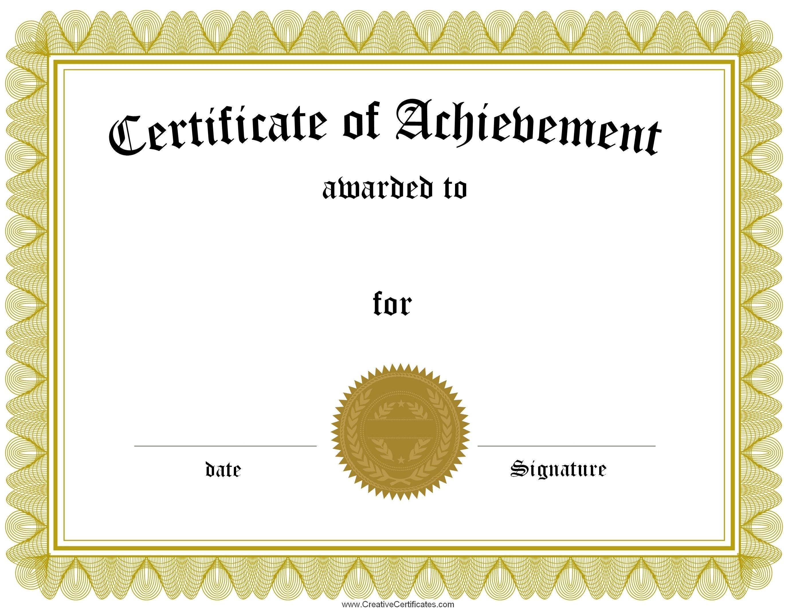 Certificates Astounding Certificate Template Free Sample Intended
