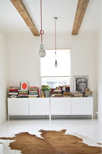Wooden Beams, Rug And White! The Sideboards Are Like Ours
