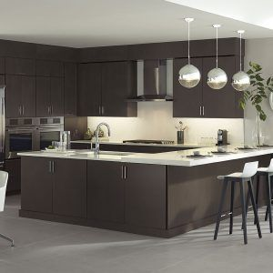 Wenge Wood Kitchen Cabinets Contemporary Kitchen Contemporary Kitchen Design Small Apartment Kitchen