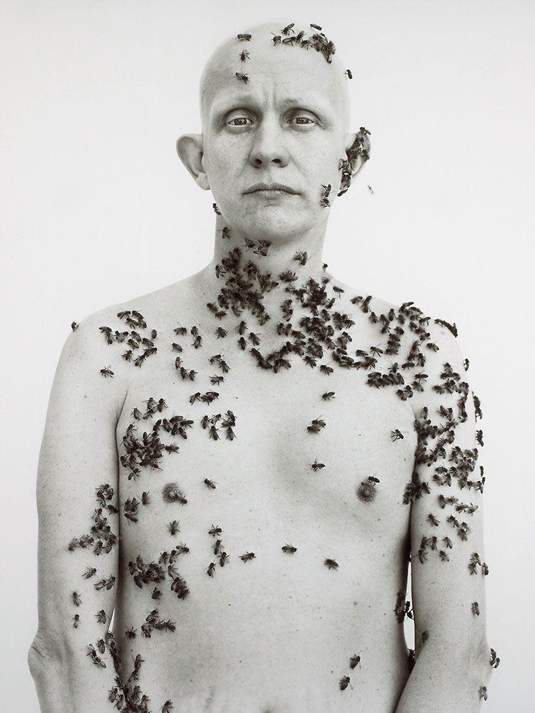 Richard Avedon's famous beekeeper portrait