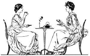 Victorian Tea Time ~ Free Clip Art | Old Design Shop Blog | Free clip art, Tea art, Clip art