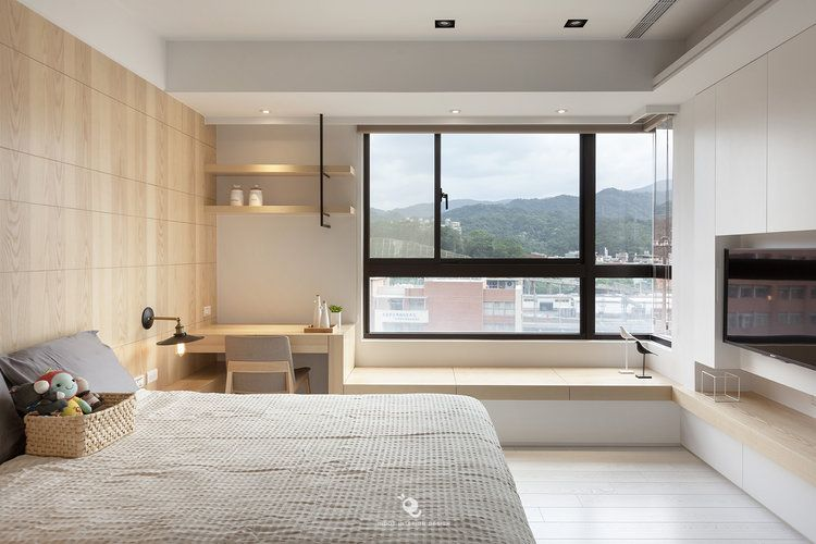 住宅 台中黃宅 單層 蟲點子創意設計 Bedroom Design Bedroom Interior Trendy Living Rooms