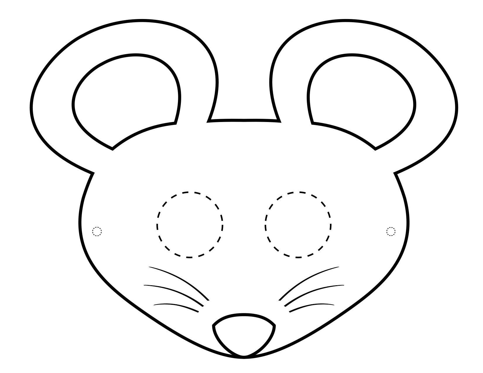Mascaras De Animales Para Colorear Bebeazul Top Mouse Mask Printable Animal Masks Mouse Crafts
