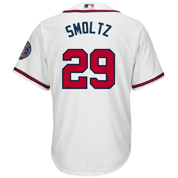 e981f6a88 Men s Atlanta Braves John Smoltz Majestic White Home Big   Tall Cooperstown  Cool Base Player Jersey 3