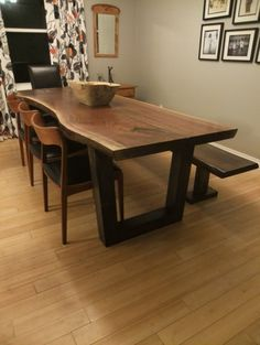 Live Edge Table Slab Dining Tables Contemporary Dining Table