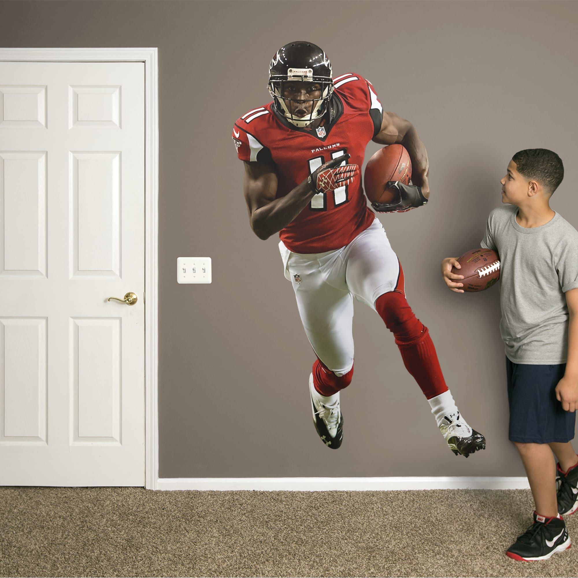 Julio Jones Home Life Size Officially Licensed Nfl Removable Wall Decal Julio Jones Nfl Atlanta Falcons