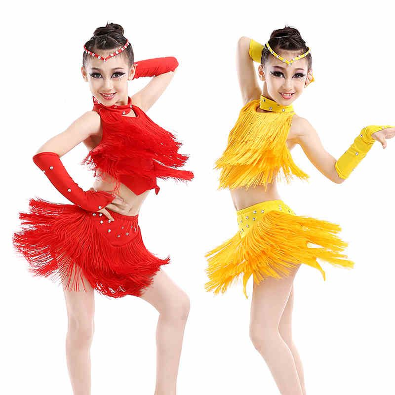 0e1f5773c The new children s Latin dance costumes summer girls tassel suit ...