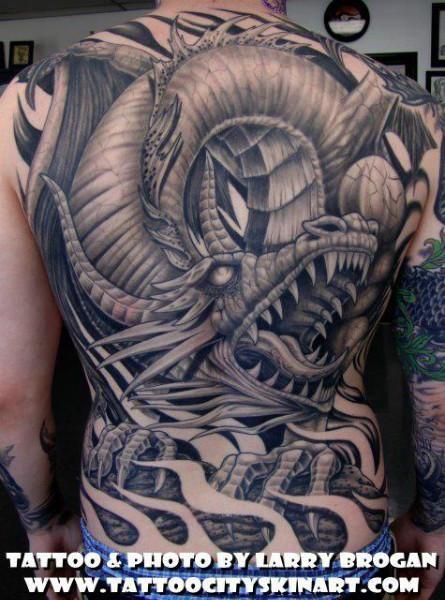 Los Mejores Tatuajes De Dragones En La Espalda Tattoos And Tattoo Designs