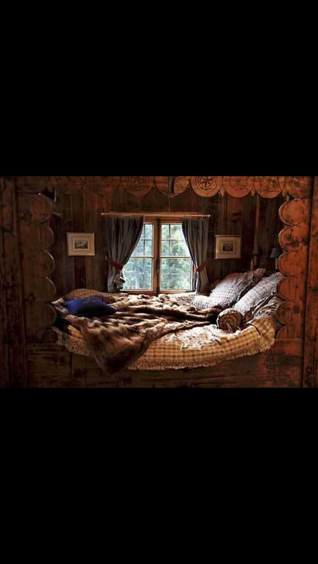 I Want With Images Cozy Cabin Bedrooms Bed Nook Cabin Bedroom