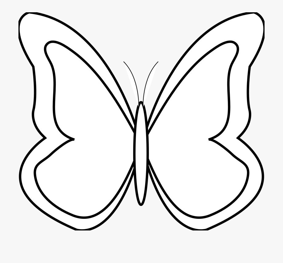 Butterfly Clipart Outline Images In 2021 Butterfly Clip Art Clip Art Butterfly Black And White