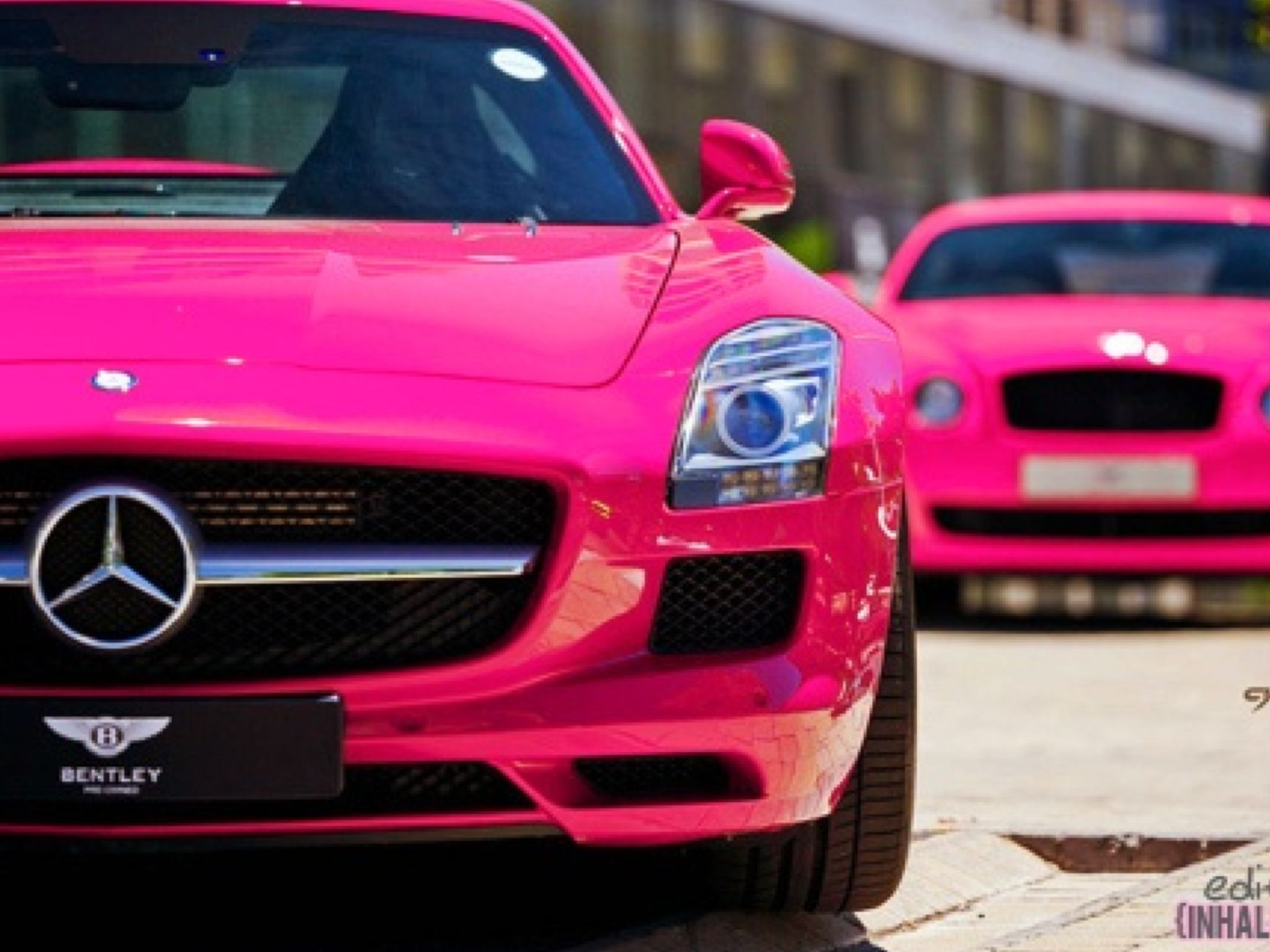Pink Benz Omgsh I Love It My Future Car With Purple Rims