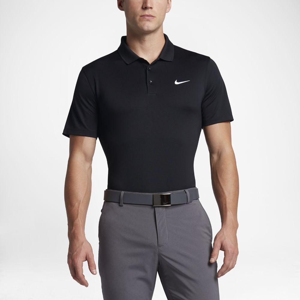 Nike Victory Men's Slim Fit Golf Polo Shirts White/Black