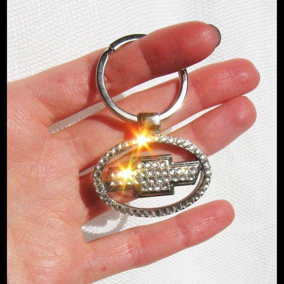 Chevrolet Emblem Chevrolet Keychain With Swarovski Crystals