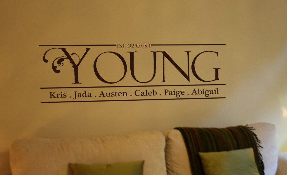 Personalized Family Name Vinyl Wall Art Decal. $36.50, via Etsy ...